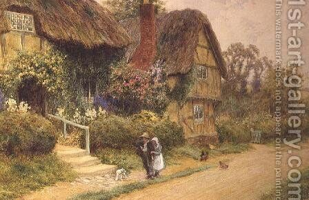 The Thatched Cottage by Arthur Claude Strachan - Reproduction Oil Painting