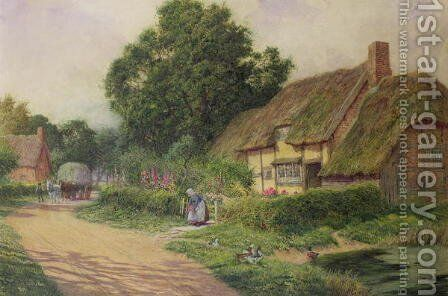 The Coming of the Haycart by Arthur Claude Strachan - Reproduction Oil Painting
