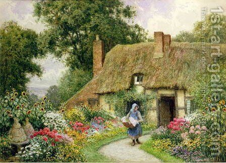 Taking out the Washing by Arthur Claude Strachan - Reproduction Oil Painting