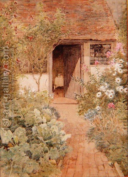 Cabbages in a Cottage Garden by Arthur Claude Strachan - Reproduction Oil Painting