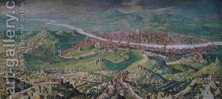 The Siege of Florence in 1530, 1563-65 by Jan van der (Joannes Stradanus) Straet - Reproduction Oil Painting