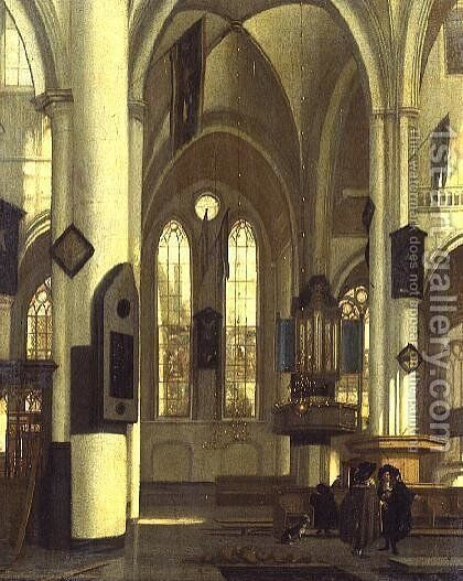 The Interior of a Church by Hendrick van Streeck - Reproduction Oil Painting