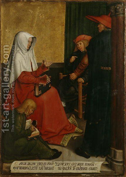 St. Mary Salome and Zebedee with John the Evangelist and James the Great, c.1505-6 by Bernhard Strigel - Reproduction Oil Painting