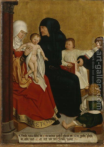 Mary of Cleopas and Alphaeus with their Four Children James the Less, Simon the Zealot, Jude Thaddaeus and Joseph, c.1505-06 by Bernhard Strigel - Reproduction Oil Painting