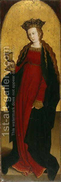 St. Barbara, c.1500 by Bernhard Strigel - Reproduction Oil Painting