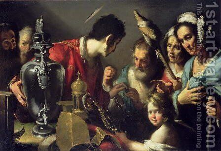 The Charity of St. Lawrence by Bernardo Strozzi - Reproduction Oil Painting