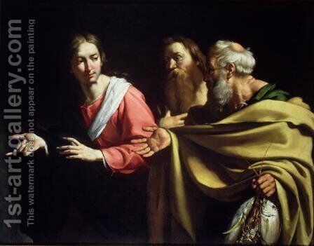 The Calling of St. Peter and St. Andrew by Bernardo Strozzi - Reproduction Oil Painting