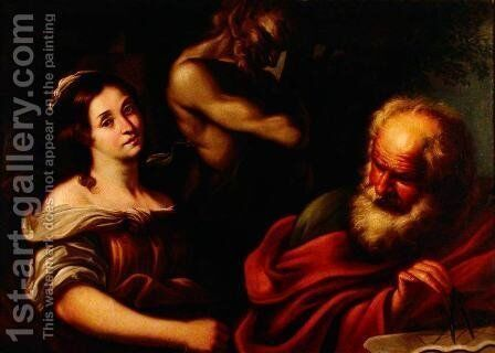 Allegory of Mathematics by Bernardo Strozzi - Reproduction Oil Painting