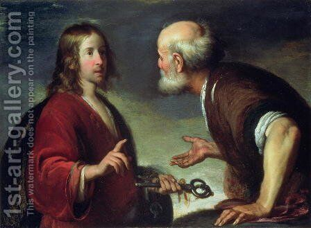 The Delivery of the Keys to St. Peter by Bernardo Strozzi - Reproduction Oil Painting
