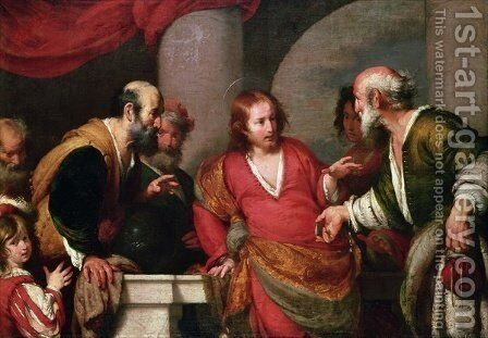 Christ in the Temple with Money Lenders by Bernardo Strozzi - Reproduction Oil Painting