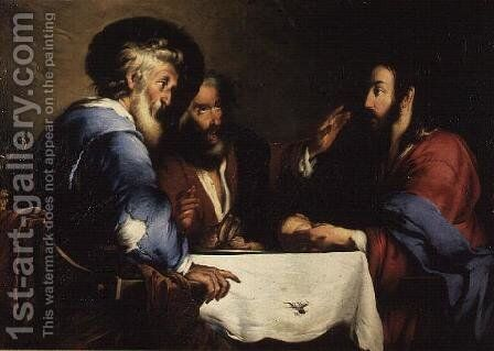 Supper at Emmaus by Bernardo Strozzi - Reproduction Oil Painting