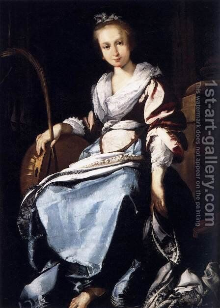 St. Cecilia by Bernardo Strozzi - Reproduction Oil Painting