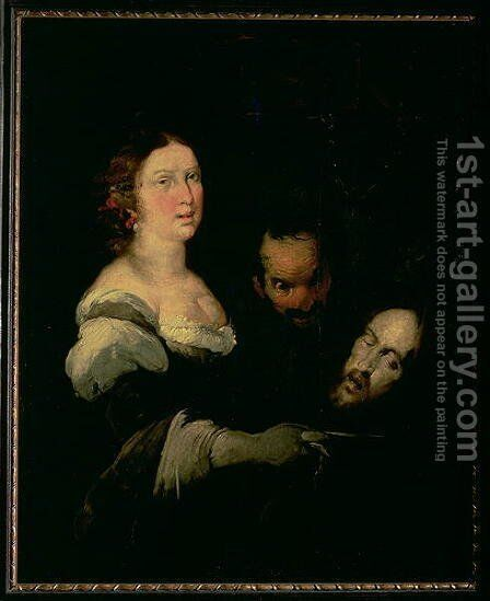 Salome with the head of St. John the Baptist, 1635 by Bernardo Strozzi - Reproduction Oil Painting