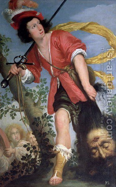 David with the Head of Goliath by Bernardo Strozzi - Reproduction Oil Painting