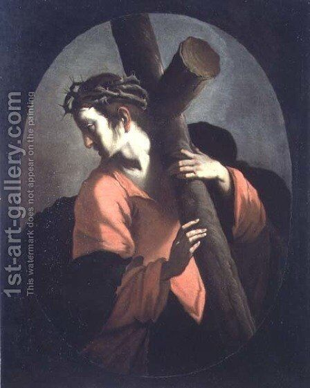 Christ Carrying the Cross, c.1608-09 by Bernardo Strozzi - Reproduction Oil Painting