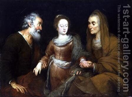The educating of Maria by Bernardo Strozzi - Reproduction Oil Painting