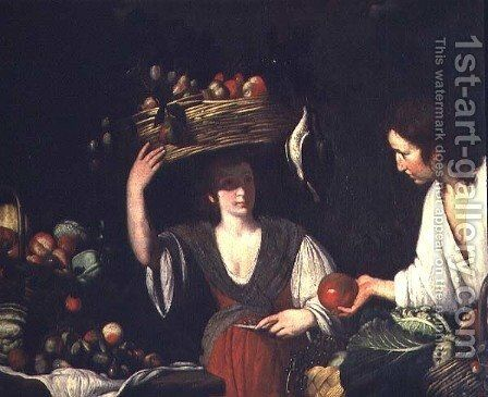 Fruitseller by Bernardo Strozzi - Reproduction Oil Painting