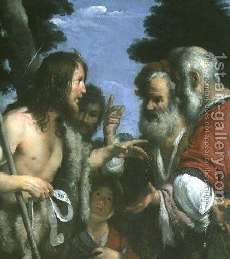 The Sermon of St. John the Baptist, c.1644 by Bernardo Strozzi - Reproduction Oil Painting