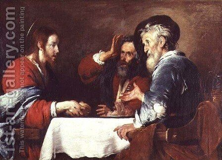 Supper at Emmaus 2 by Bernardo Strozzi - Reproduction Oil Painting