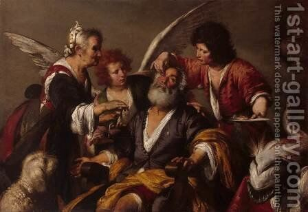 The Healing of Tobit, early 1630s by Bernardo Strozzi - Reproduction Oil Painting