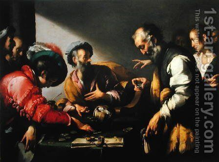 The Calling of St Matthew, c.1620 by Bernardo Strozzi - Reproduction Oil Painting