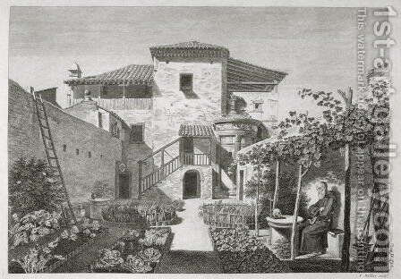 The Monument of Lysicrates in the garden of the Capuchin monastery, Athens, from The Antiquities of Athens, engraved by Anthony Walker 1726-65, published 1762-1830 by after Stuart, James and Revett, Nicholas - Reproduction Oil Painting
