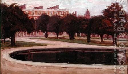 Hampton Court Palace by Arthur Haythorne Studd - Reproduction Oil Painting