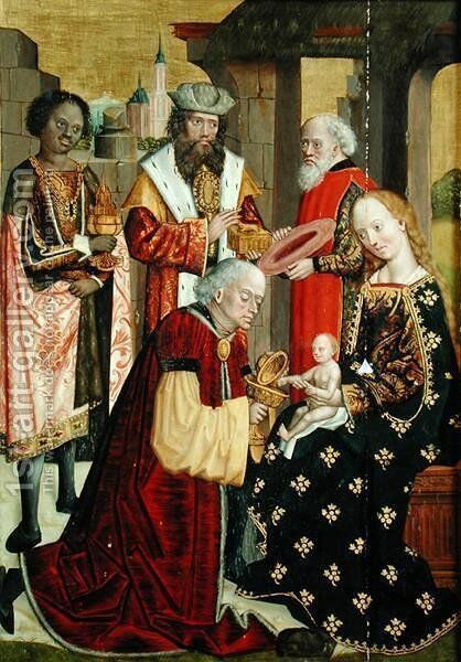 The Adoration of the Magi, from the Dome Altar, 1499 by Absolon Stumme - Reproduction Oil Painting