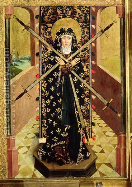 Virgin of Seven Sorrows from the Dome Altar, 1499 by Absolon Stumme - Reproduction Oil Painting