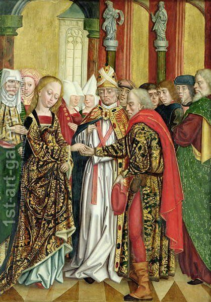 Marriage of the Virgin, from the Dome Altar, 1499 by Absolon Stumme - Reproduction Oil Painting