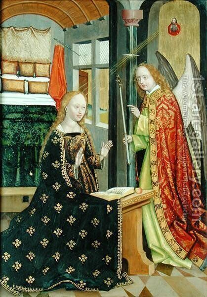 Annunciation, from the Dome Altar, 1499 by Absolon Stumme - Reproduction Oil Painting