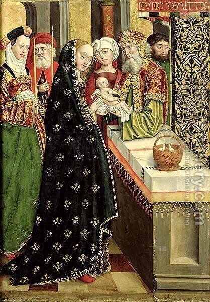 The Presentation in the Temple, from the Dome Altar, 1499 by Absolon Stumme - Reproduction Oil Painting