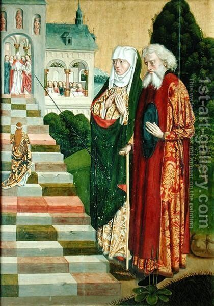 Presentation of the Virgin, from the Dome altar, 1499 by Absolon Stumme - Reproduction Oil Painting
