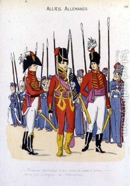 The Duke of Cambridge and His Aides de Camps Reviewing the Troops by Christoph Suhr 1771-1842 by Christoph Suhr - Reproduction Oil Painting