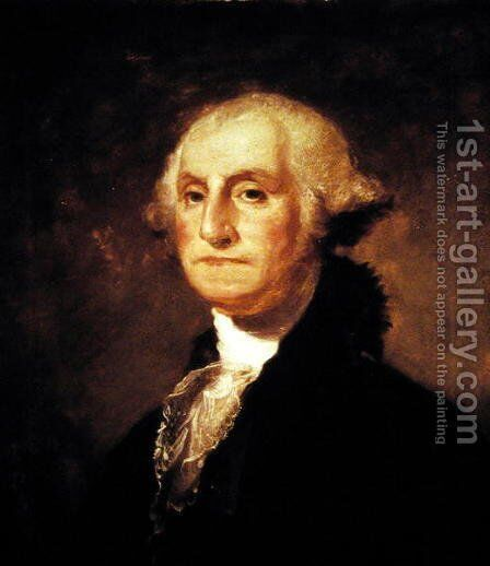 Portrait of George Washington, copy after Gilbert Stuart 1755-1828 1855 by (after) Sully, Thomas - Reproduction Oil Painting