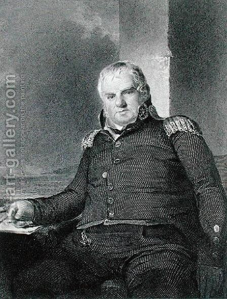 General Jonathan Williams 1750-1815 engraved by Richard W. Dodson 1812-67 by (after) Sully, Thomas - Reproduction Oil Painting