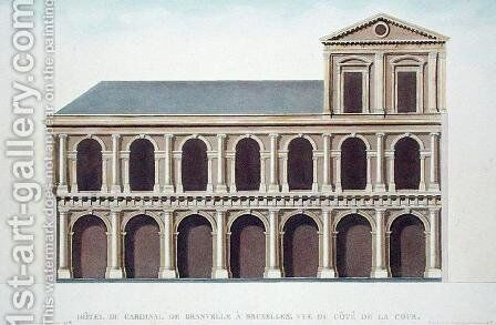 Side View of the Residence of Cardinal de Granvelle 1517-86, Brussels, from Choix des Monuments, Edifices et Maisons les plus remarquables du Royaume des Pays-Bas by Pierre Jacques Goetghebuer, engraved by the author, published 1827 by (after) Suys, Tilman-Francois - Reproduction Oil Painting