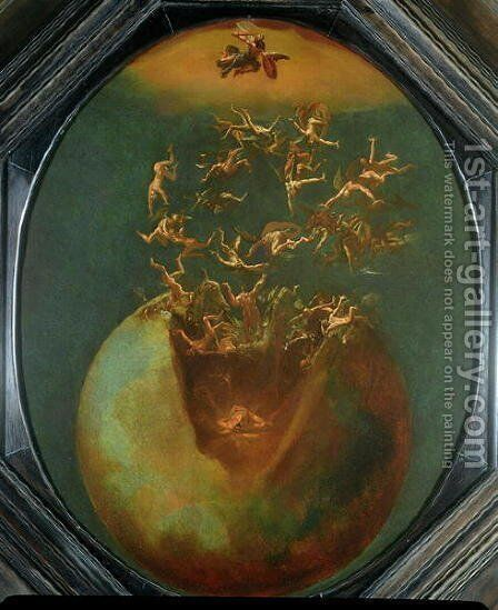 Fall of Satan and the Rebel Angels from Heaven by Jakob Isaaksz Swanenburgh - Reproduction Oil Painting