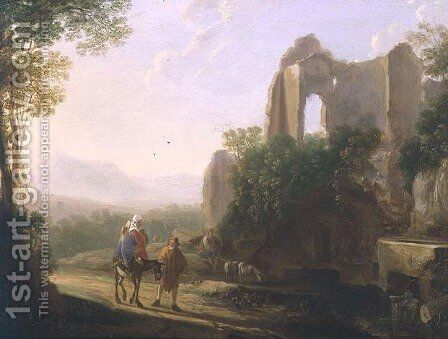 The Flight into Egypt by Herman Van Swanevelt - Reproduction Oil Painting
