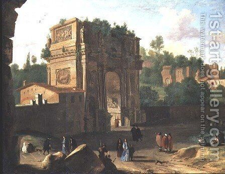The Arch of Constantine, Rome by Herman Van Swanevelt - Reproduction Oil Painting