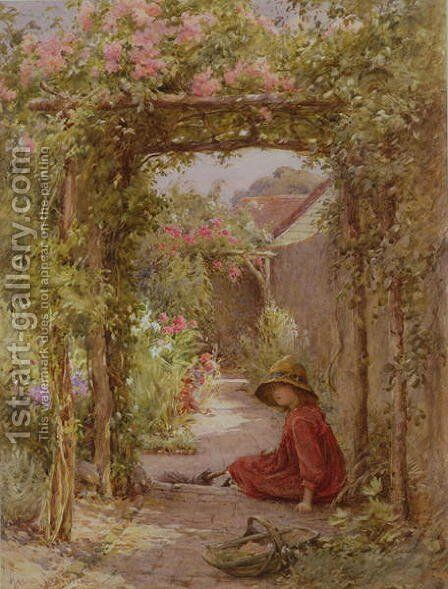 The Little Gardener by Harold Swanwick - Reproduction Oil Painting