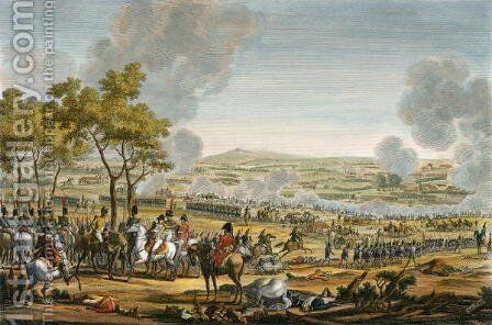 The Battle of Wagram, 7 July 1809, engraved by Louis Francois Mariage by (after) Swebach, Jacques Francois Joseph - Reproduction Oil Painting