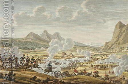 The Battle of Mount Tabor, 27 Ventose, Year 7 17 February 1799 engraved by Louis Francois Couche 1782-1849 by (after) Swebach, Jacques Francois Joseph - Reproduction Oil Painting