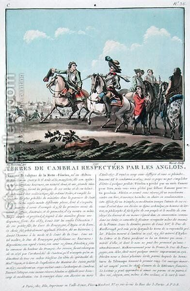 Territories of Cambrai are respected by the English, engraved by Jean Baptiste Morret fl.1790-1820, 1790 by (after) Swebach, Jacques Francois Joseph - Reproduction Oil Painting