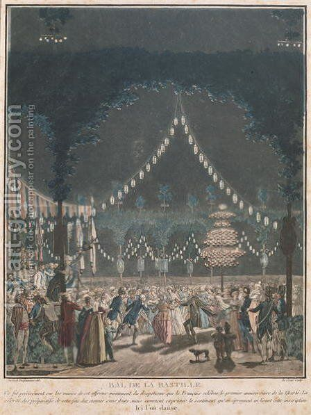 The Bastille Ball by (after) Swebach, Jacques Francois Joseph - Reproduction Oil Painting