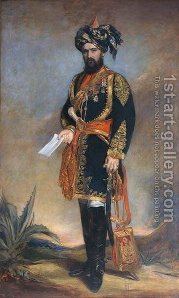 Colonel Probyn CB VC 1833-1924 Honorary ADC to the Viceroy of India and HMs Indian Cavalry, c.1867 by James Rannie Swinton - Reproduction Oil Painting