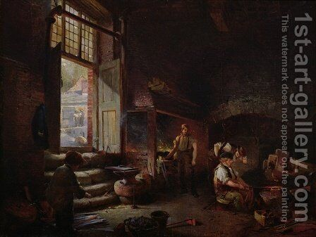 Sheffield Scythe Tilters by Godfrey Sykes - Reproduction Oil Painting