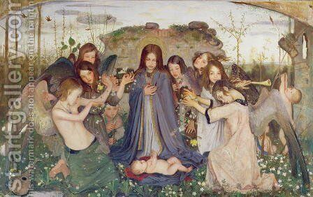 Madonna and Child with Angels, c.1925 by Mark Lancelot Symons - Reproduction Oil Painting