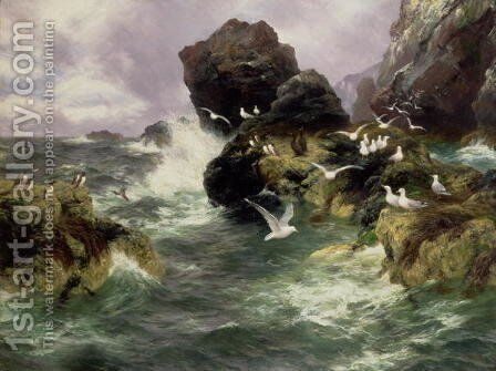 Oweans Surge, 1900 by Anonymous Artist - Reproduction Oil Painting