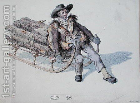 Sledger from the Berne District, early 19th century by Anonymous Artist - Reproduction Oil Painting